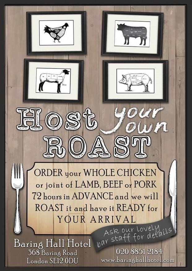 roast poster baring hall hotel